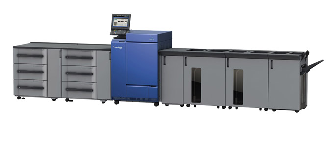The Konica Minolta C1100 Digital Color Press.