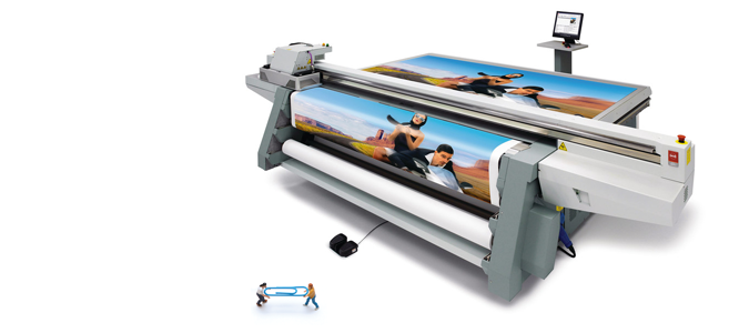 The Canon OCÉ Arizona 365 GT UV Flatbed Printer.